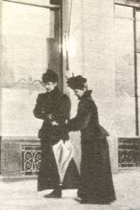 The last picture taken of Empress Elisabeth, seen with her lady in waiting.